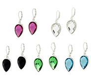 As Is Joan Rivers Set of 5 Pear Shaped Lever Back Earrings - J332746