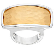 RLM Bronze Two Tone Hammered Rectangle Ring - J334746