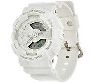 G-Shock Womens Analog Digital White on White Resin Watch - J347846