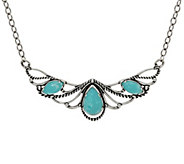 Carolyn Pollack Sterling Silver Gemstone Statement Necklace - J348446
