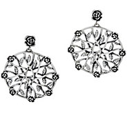 Or Paz Sterling Silver Rose Pinwheel Dangle Earrings - J349546