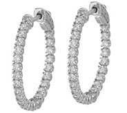 Diamonique 1 Inside Out Hoop Earrings, Sterling - J351246
