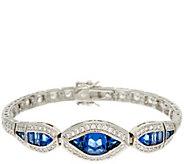 As Is The Elizabeth Taylor Sim. Sapphire Tennis Bracelet - J351446