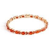 6-3/4 Fire Opal Tennis Bracelet 14K Gold, 4.10 cttw - J353546