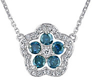 Blue and White Diamond Necklace, 14K, 1/2 cttw,by Affinity - J376746