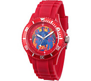 Marvel Guardians Unisex Red Plastic Watch - J376846