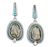 Judith Ripka Sterling Earrings with Diamonique - J377146