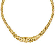 Italian Gold Graduated Byzantine Necklace 14K,18.6g - J377646