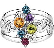 Carolyn Pollack Sterling Multi-Gemstone Ring - J378346