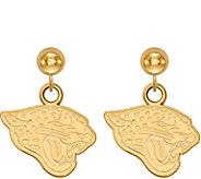 Sterling & 14K Plated NFL Dangle Post Earrings - J380746