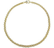 Judith Ripka Verona 14K Clad 18 Basket-Weave Necklace, 51.5g - J381446