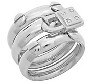 Steel by Design Stainless Set of 3 Stack Rings - J383746