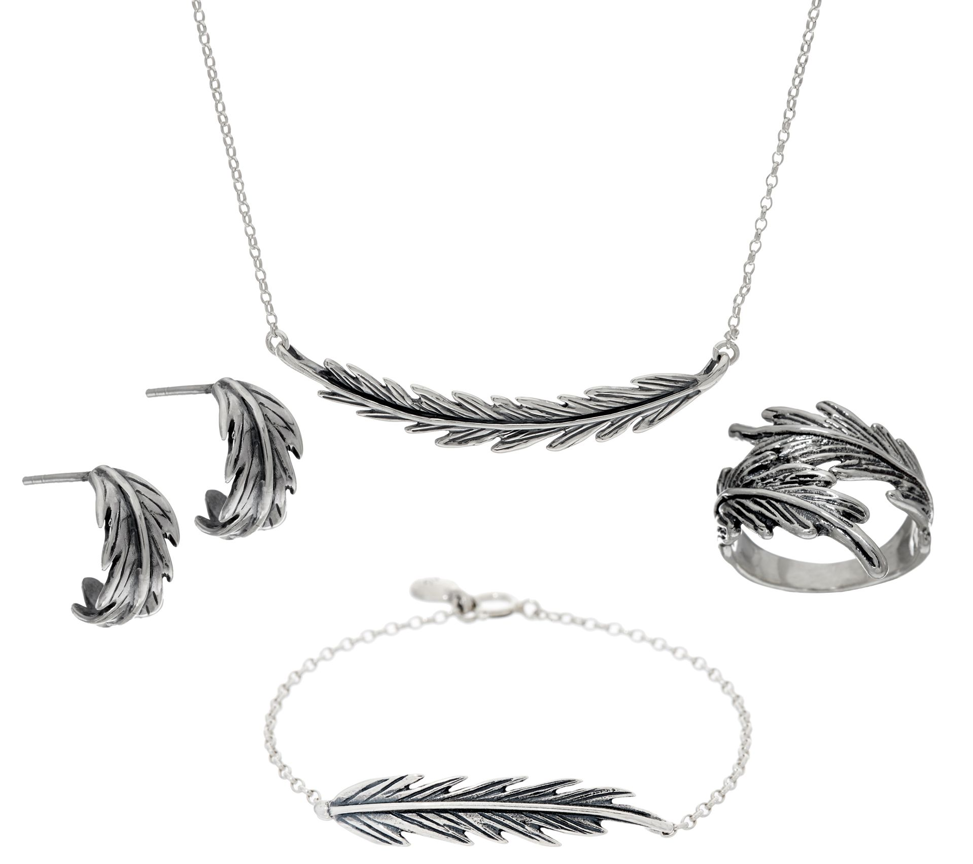 Hagit Sterling Silver Feather Collection