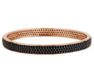Bronze Large 12.00 ct tw Black Spinel Round Bangle by Bronzo Italia - J280247