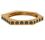 As Is Simualated Pearl Hexangle Bangle Bracelet - J288647