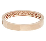 Bronze Bold Polished Oval Hinged Bangle by Bronzo Italia - J291747