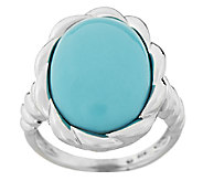 Sleeping Beauty Turquoise Sterling Twist Design Ring - J294547