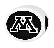 Sterling Silver University of Minnesota Bead - J300747