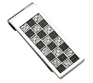 Forza Stainless Steel Black and Gray Money Clip - J302247