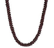 Lee Sands Crocheted Garnet Nugget 34 Necklace - J302747