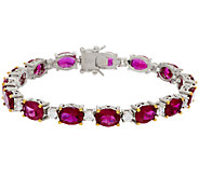 The Elizabeth Taylor 12.0cttw Perfect Love Simulated Ruby Tennis Bracelet - J319847