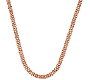 Bronze 18 Polished Byzantine Necklace by Bronzo Italia - J323047
