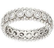 Diamonique Bezel Set Bead Design Ring, Sterling - J323247