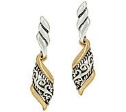 Carolyn Pollack Sterling & Brass Signature Scroll Earrings - J324247