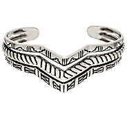 Sterling Silver Three Row Chevron Cuff by American West 23.0g - J324947