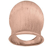 As Is VicenzaSilver Sterling Elongated Satin Finish Ring - J325247