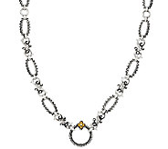 Barbara Bixby Sterling & 18K 36 Textured Link Necklace - J326347