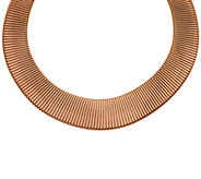 As Is Bronze Bold Graduated Tubogas Necklace by Bronzo Italia - J327347