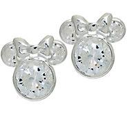 As Is Disney 1.8 cttw Diamonique Mickey or Minnie Studs - J328147