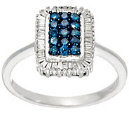 Baguette & Round Diamond Ring, Sterling, 1/2 cttw, by Affinity - J328847