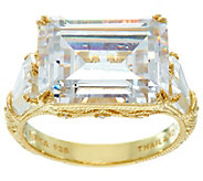 Judith Ripka Sterling & 14K Clad 15.25 cttw Diamonique Ring - J331247