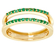 As Is Emerald Ring Guard, 14K Gold .15 cttw, by Affinity - J332247