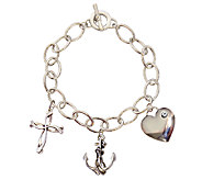 Catherine Galasso Faith, Hope, and Love Charm Bracelet - J336547