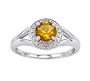 Sterling Round Faceted Birthstone Ring - J336647
