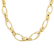 EternaGold 18 Textured Multi-Link Necklace 14KGold, 9.1g - J337447