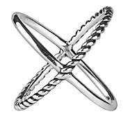 Carolyn Pollack Sterling Silver X Ring - J337647
