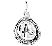 Hagit Sterling Carved Initial Charm - J338047
