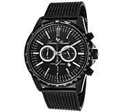 Lucien Piccard Fidelity Stainless Steel Chronograph Mesh Watc - J339047