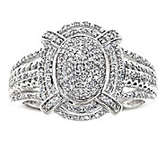 Oval Halo Diamond Ring, 1/4cttw, 14K White Gold, by Affinity - J339247