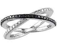 Black Diamond X Ring, Sterling, by Affinity - J340747