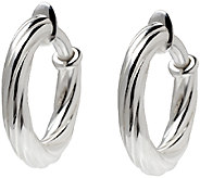 UltraFine Silver 1 Twisted Clip-On Hoop Earrings - J340947