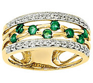 Gemstone and Diamond Cut-Out Band Ring, 14K - J342247