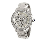 Judith Ripka Stainless Steel Silver or Gold Chronograph Watch - J342447