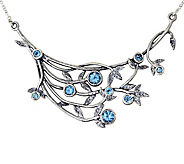 Sterling Silver 1.50 cttw Blue Topaz Necklace by Or Paz - J342747