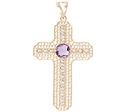 Arte dOro Gemstone Cross Pendant, 18K - J343147