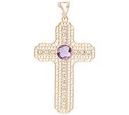 Arte dOro Gemstone Cross Pendant, 18K - J343147